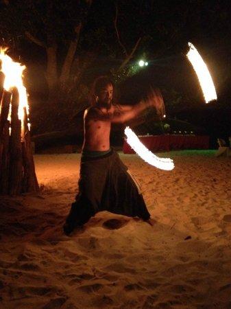 Secret Paradise Resort & Turtle Sanctuary: Fire dancer