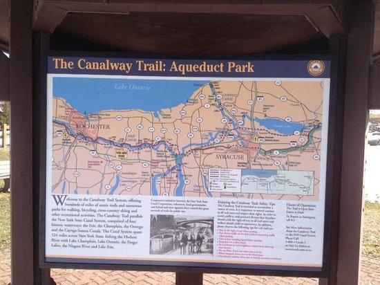 Palmyra, NY: Erie Canal Aqueduct Park map