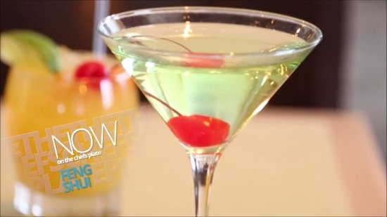 Feng Shui: Apple Martini on The Chef's Plate show