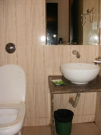Calangute Grande: Fairly clean bathroom!