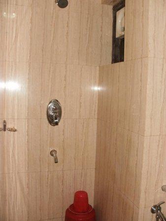 Calangute Grande: Steaming hot shower!
