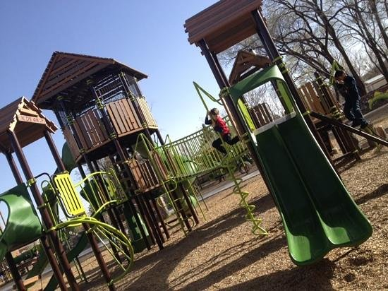 Silver city playground: large playscape