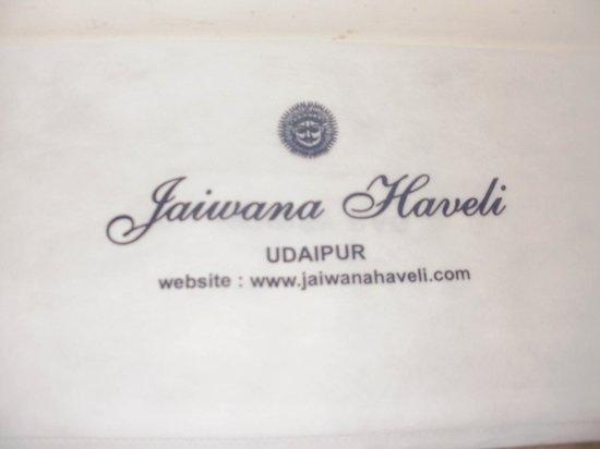 Jaiwana Haveli: Nice professional touch!