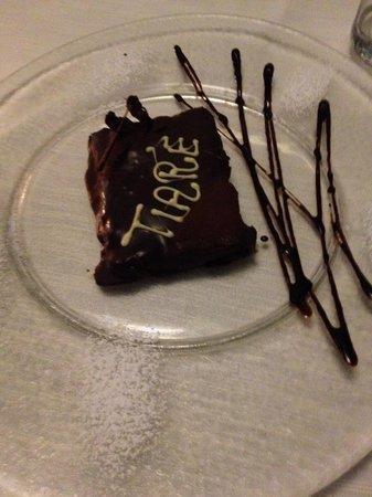 Tiare Restaurant & Pizza: tortino al cioccolato
