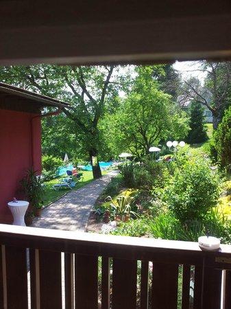 Landidyll Hotel Nudelbacher: Camera vista parco