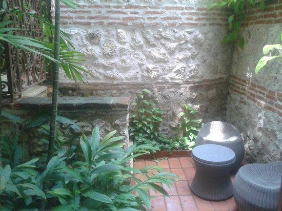 Hotel Casa San Agustin : Jardim de inverno, com pequeno ambiente para um vinho do Quarto, jantamos ai numa noite.