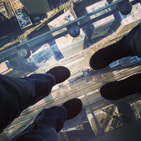 Skydeck Chicago - Willis Tower : Our view from above...way above!