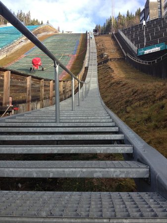 Lillehammer Olympic Park: Les 954 marches