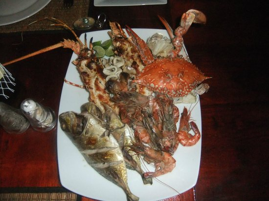 Villa Amore Mio : морепродукты