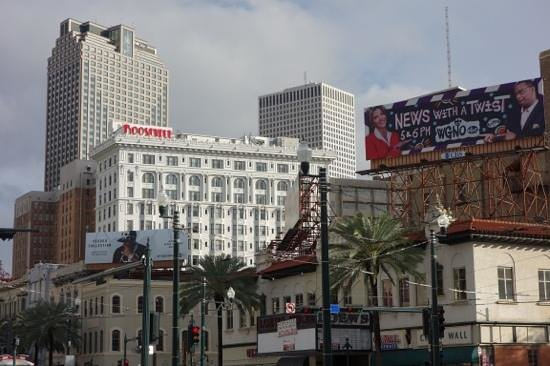 The Roosevelt New Orleans, A Waldorf Astoria Hotel: View down from Canal Street