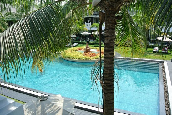 Shinta Mani Resort: View of pool from our bedroom