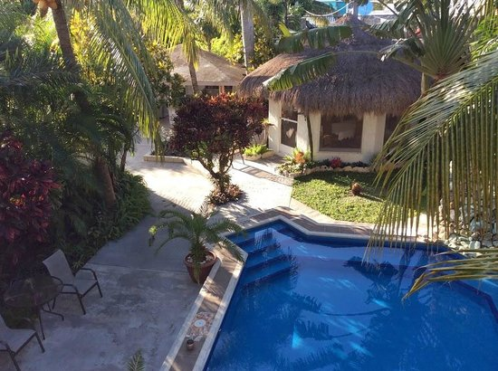 Baldwin's Guest House Cozumel: Swimming pool (taken from on top the Casita)