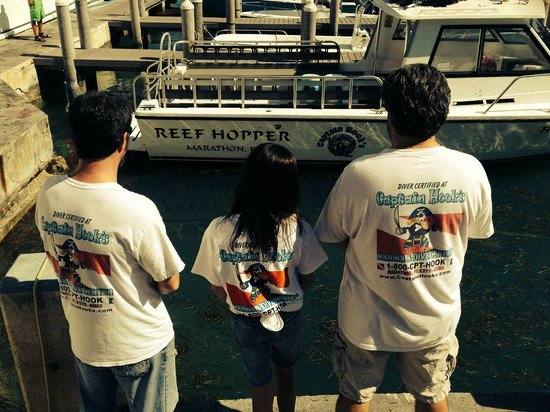 Captain Hook's Marina & Dive Center: The three of us in front of the Reef Hopper