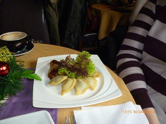 Ptaszyl: Plate of Pierogi for lunch