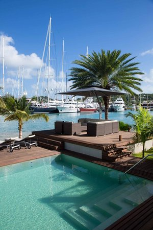 South Point Antigua: The pool, the deck, the harbour, the yachts!