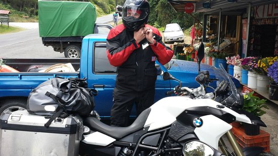 "Costa Rica Motorcycle Tours: Taking a break on the ""Mountain of Death"""
