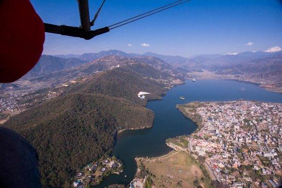 Avia Club Nepal: During the flight over Phewa lake