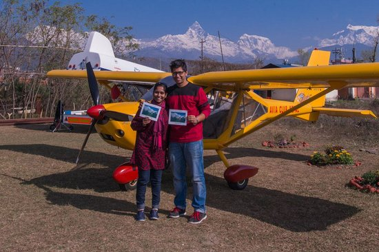 Avia Club Nepal: WIth certificates after the flight completion