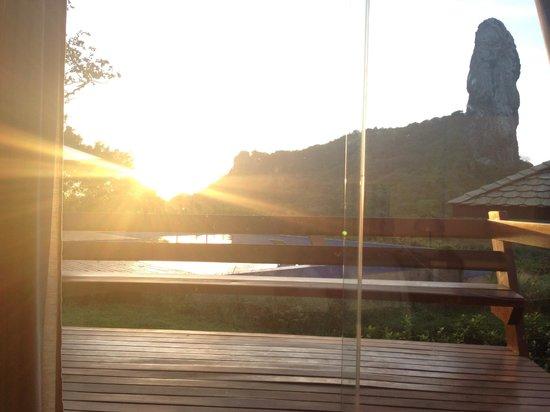 Pousada Morena: Por do sol deitado na cama!