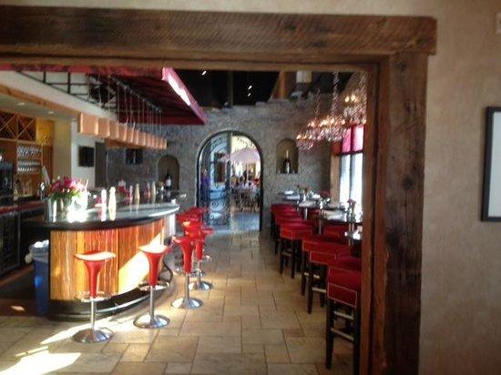 Amore Italian Restaurant Wine Bar Area