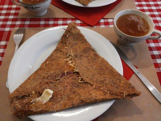 Crêperie Brocéliande : Crep salata