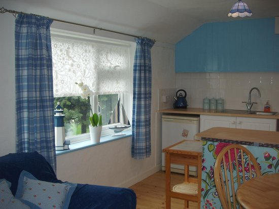 Little Trethvas Camping and Touring Site: Wellspring Cottage kitchen/dining area