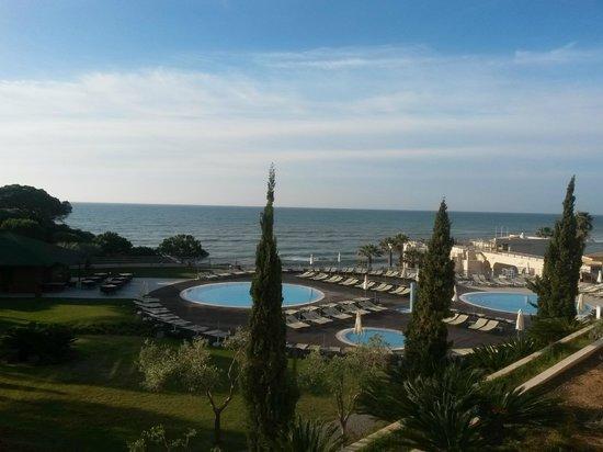 Grande Real Santa Eulalia Resort & Hotel Spa: Aussicht vom Balkon von unserer Suite im 2ten Stock