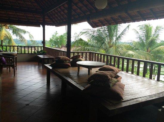 Omah Apik: The spacious verandah outside our rooms