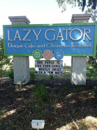 Lazy Gator: Home made fudge made right here!
