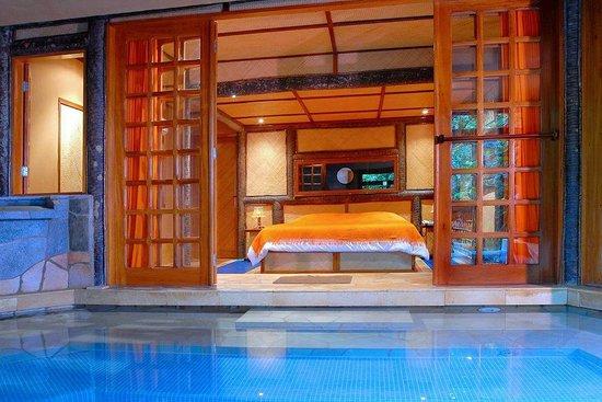 Orixas Art Hotel : suite e piscina