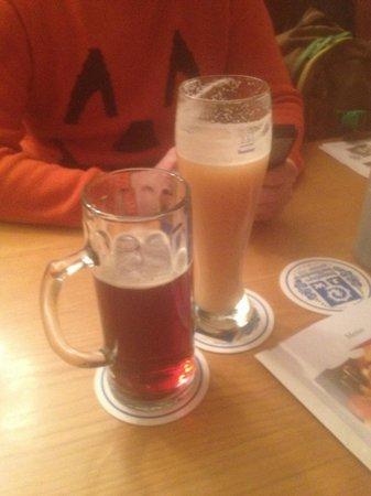 Augustiner an der Frauenkirche: Темное и банановое пиво!