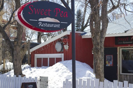 Sweet Pea Market and Restaurant: Out front from Yampa St