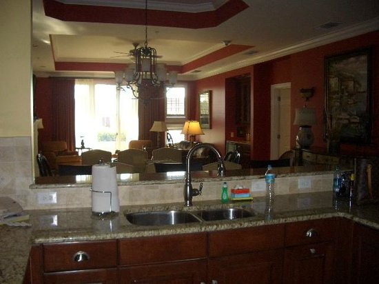 Hammock Beach Resort: Kitchen looking out to Living Room~ Ocean Tower