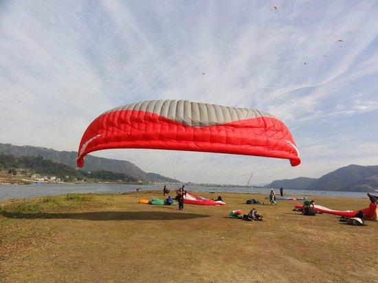 Team 5 Nepal Paragliding: Landing strip