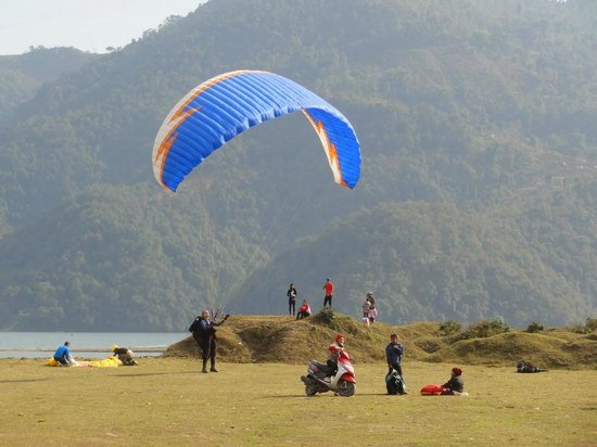 Team 5 Nepal Paragliding: Jumping point