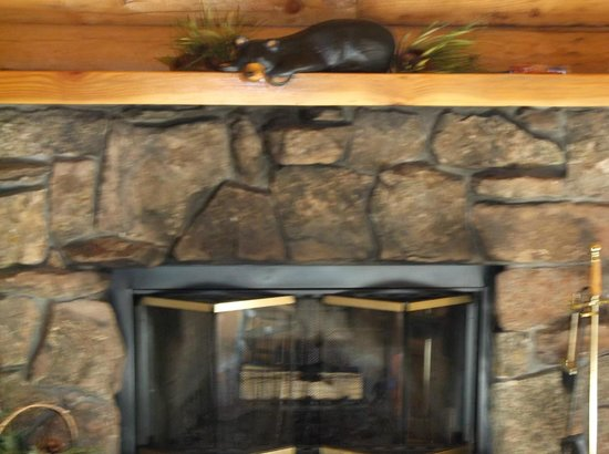 Rockmount Cottages & Cabins: fireplace