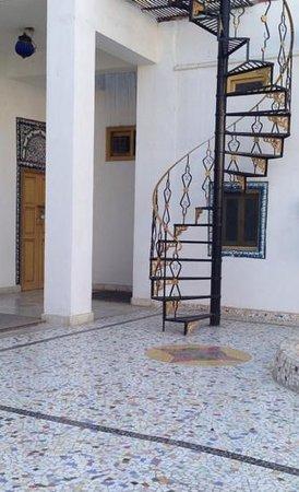 Krishna Prakash Heritage Haveli: the staircase to the terrace