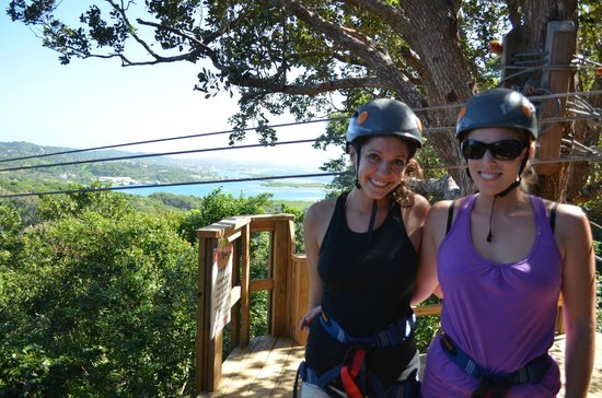 Clip N  Zip Canopy Tours: Great view from one of the platforms!