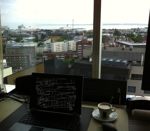 Swissotel Tallinn: View of the harbour/good coffee