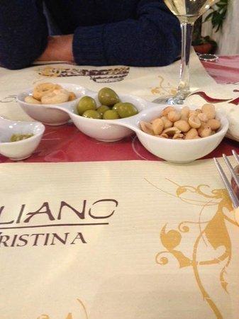 Vitaliano da Cristina: de 'knabbels'vooraf