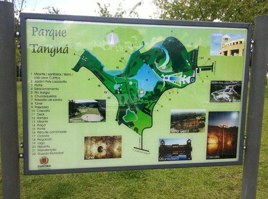 Parc de Tanguá : Mapa do Parque Tanguá