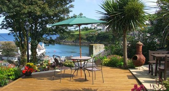 Top deck at Portmellon Cove Guest House