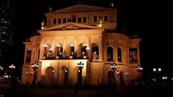 Alte Oper: The building at night. . Taken by Humoud Al-Shukeiry