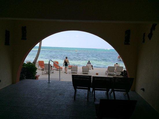 Banana Beach Resort: View of the Beach from Hotel Bar