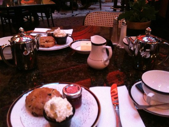 Coffee and scones at the Dome Edinburgh