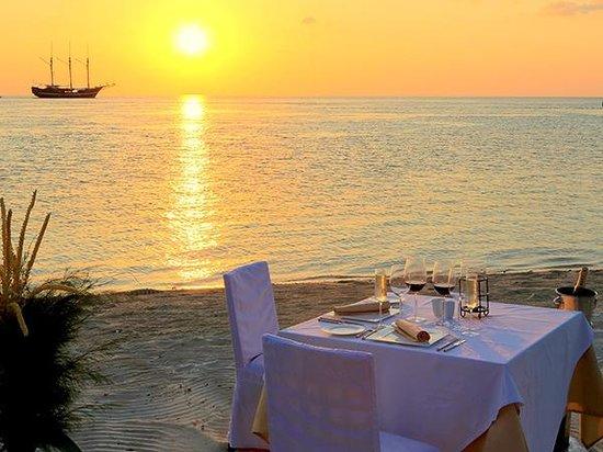 Wakatobi Dive Resort: Dining on the beach at Wakatobi is a romantic and peaceful experience.