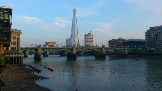 The Pepys: Southwark Bridge & The Shard (on arrival)