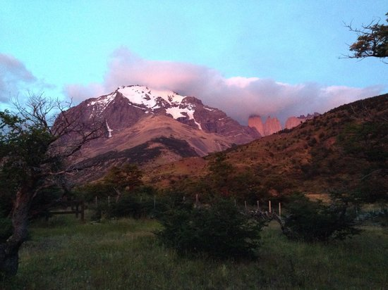Ecocamp Patagonia : View from camp early morning