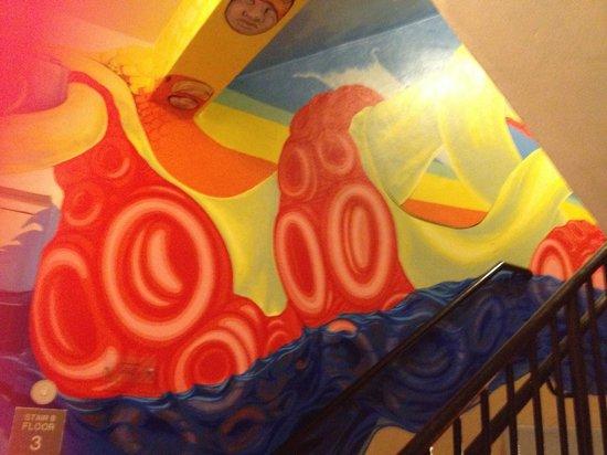 Sagamore: stairway art
