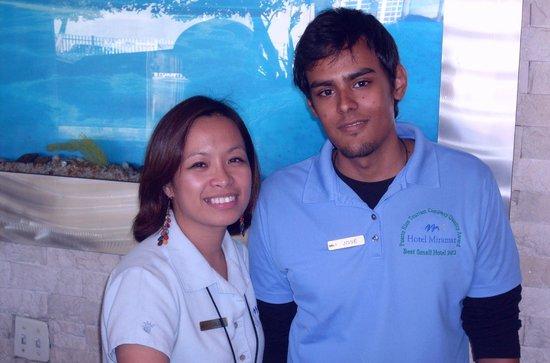 Hotel Miramar: Award winning staff, Jill and José
